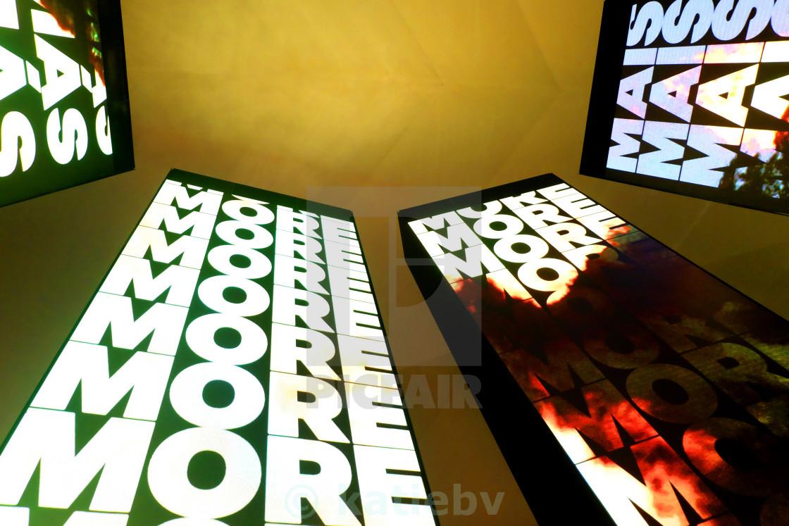 """More more more"" stock image"