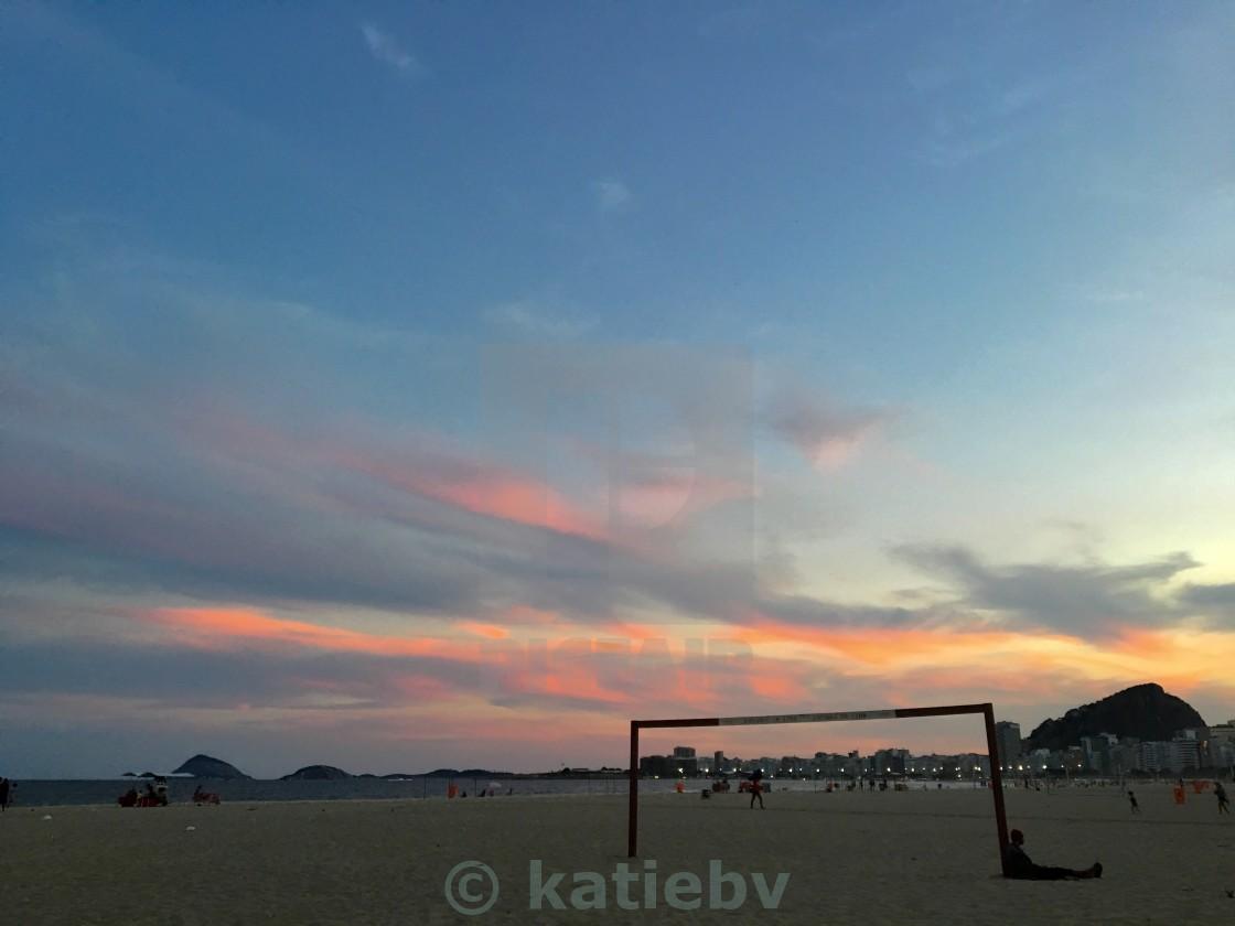 """Copacabana sunset"" stock image"