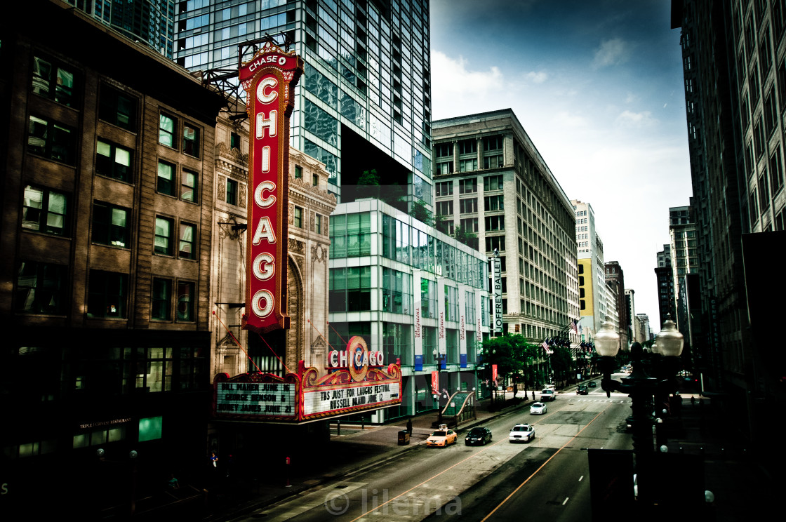 """Technicolor Chicago"" stock image"