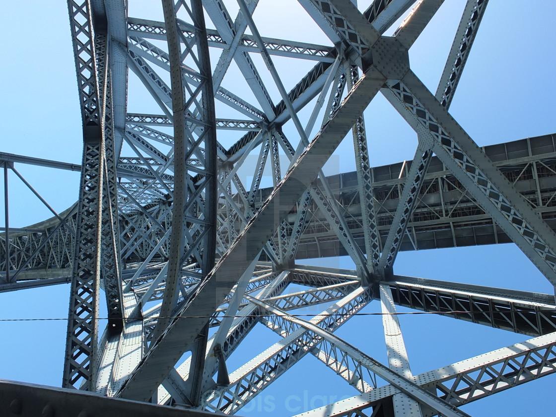 """Dom Luis I Bridge Look Up"" stock image"