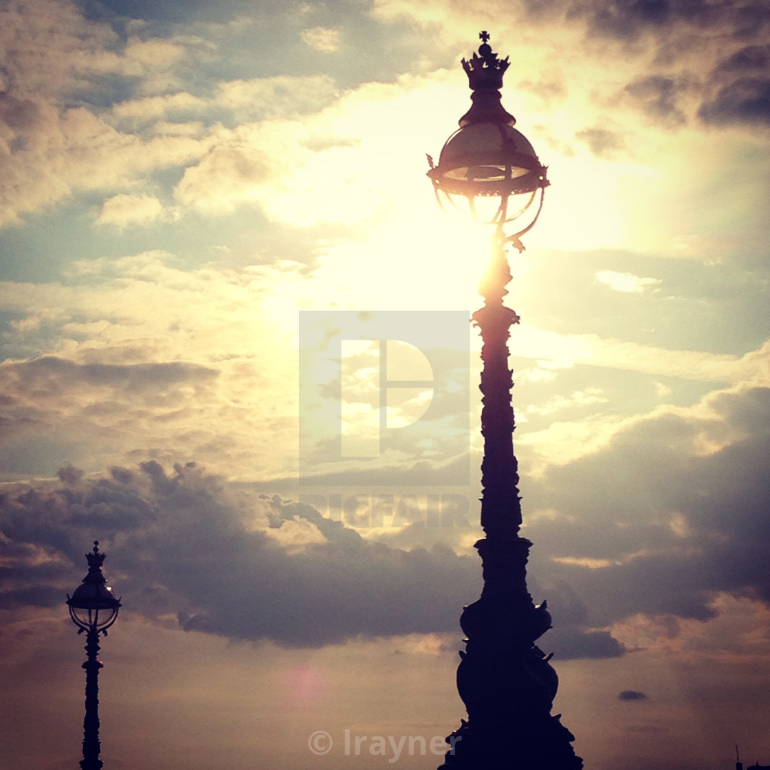 """""""Sunset over the Thames"""" stock image"""