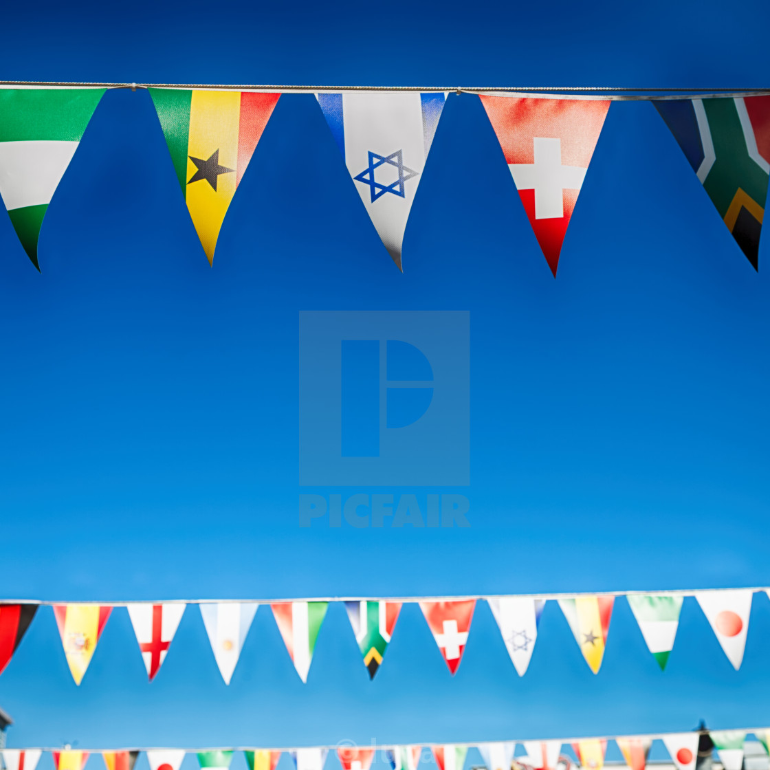 in south africa decorative waving flags - License, download