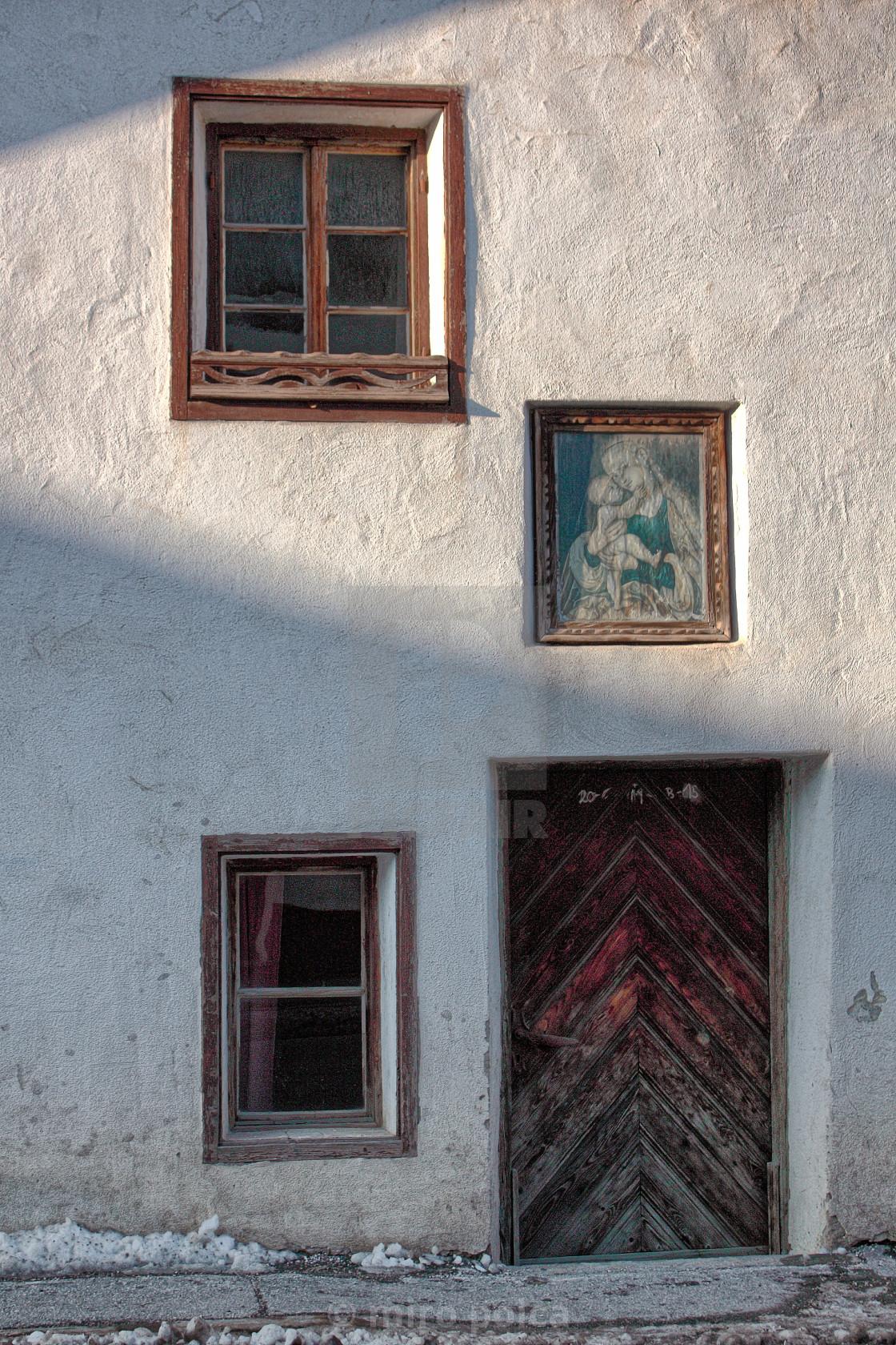 """facade of an old house"" stock image"