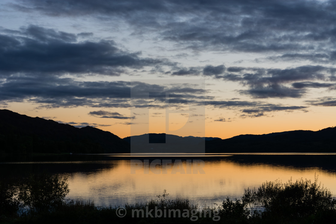 """""""Sunset over the Loch"""" stock image"""