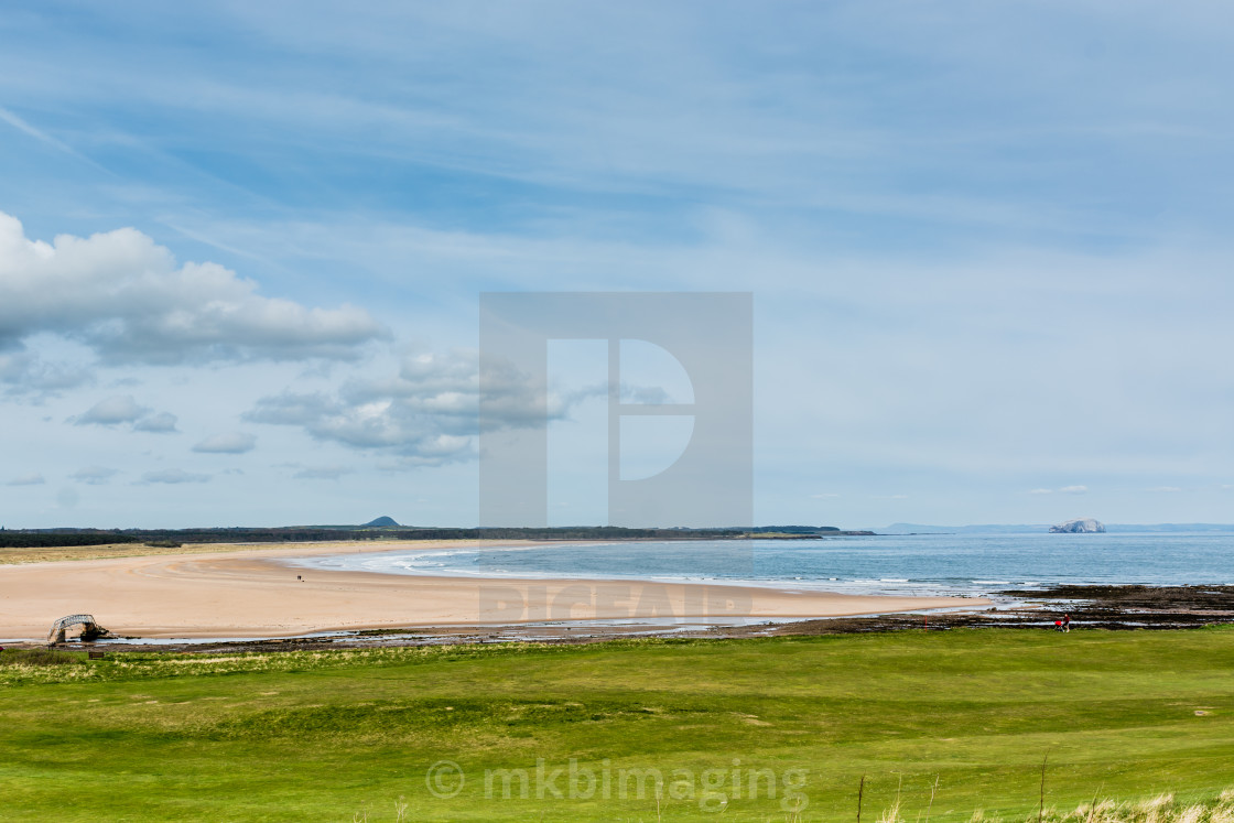 """Belhaven Bay, Dunbar"" stock image"