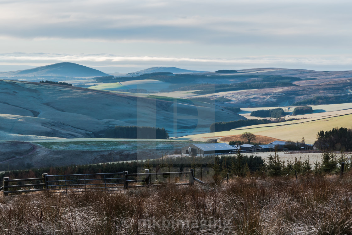 """Scottish Borders Sunrise"" stock image"