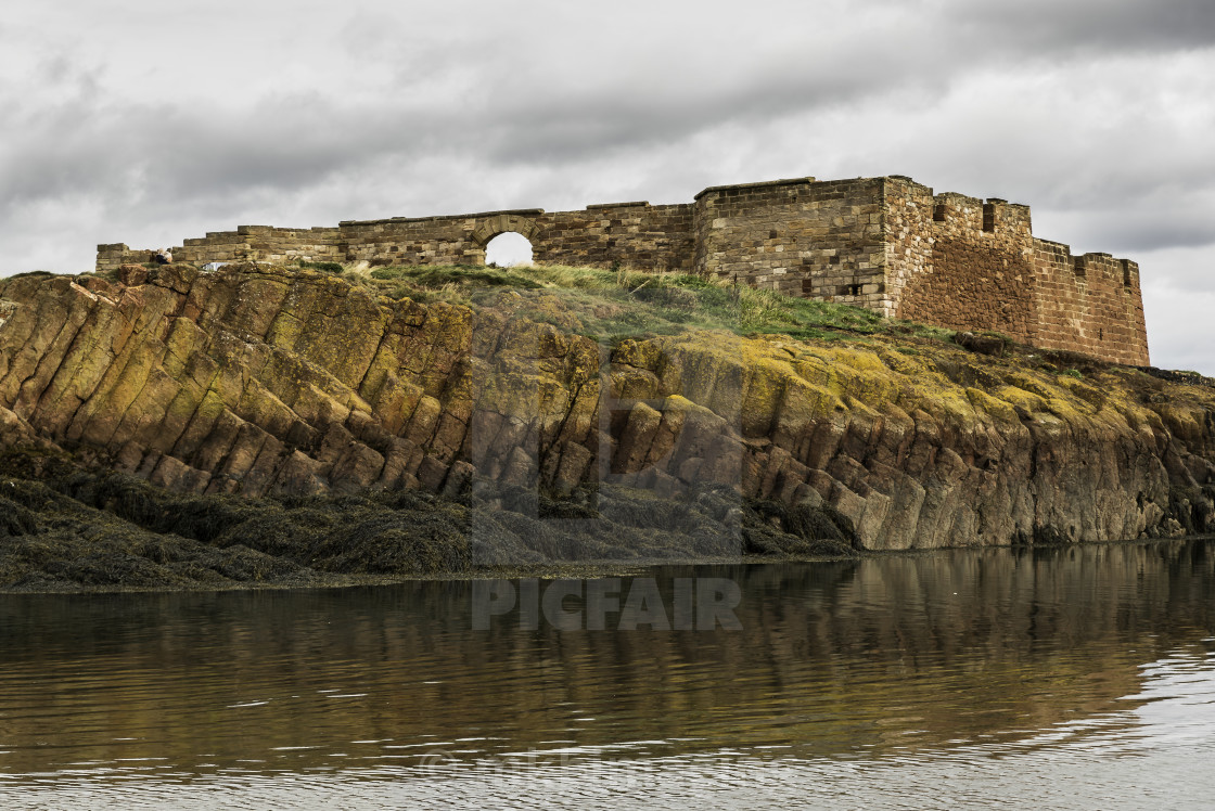 """The Battery, Dunbar"" stock image"