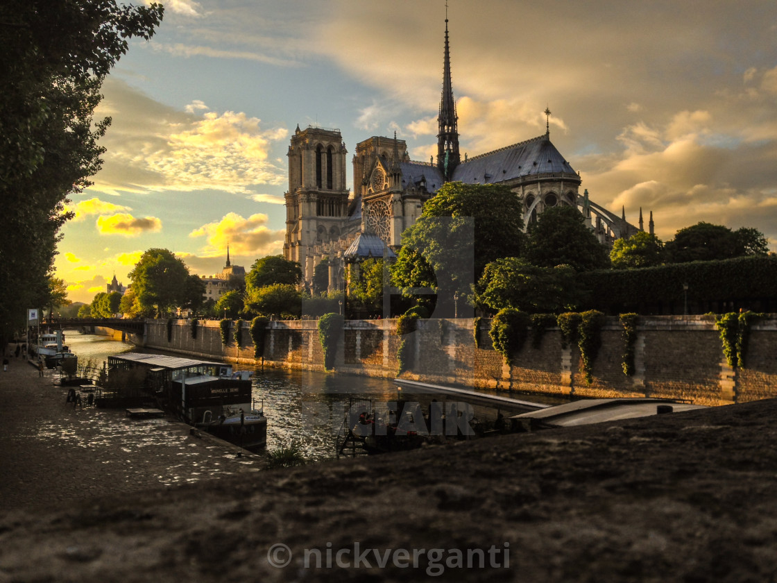 """Golden Hour in Paris"" stock image"
