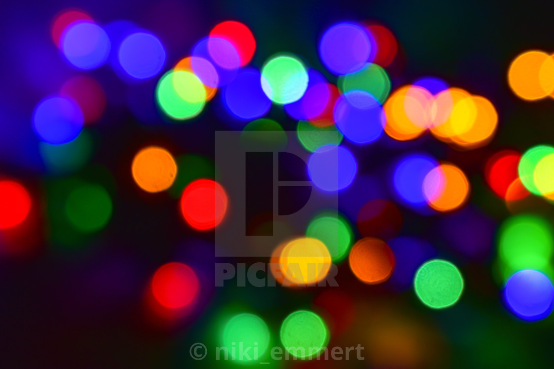 Colorful Christmas Lights Background.Colorful Christmas Lights Bokeh Abstract Background