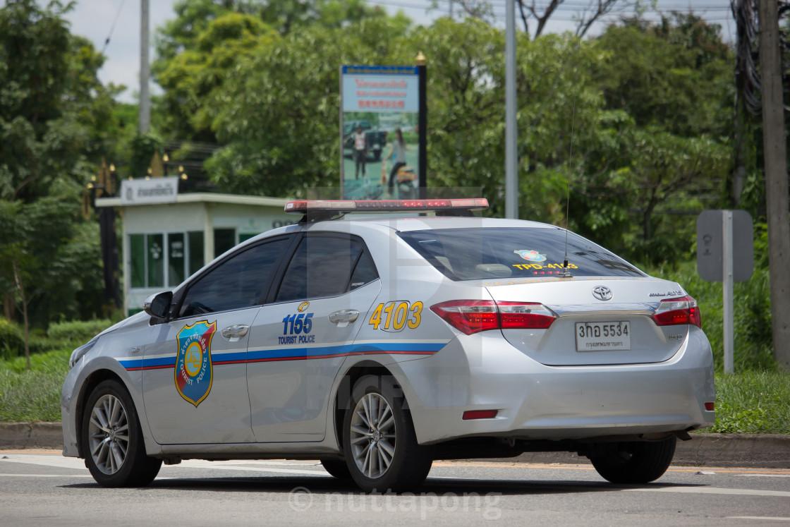 Police Car of Tourist Police Toyota Corolla Altis  - License