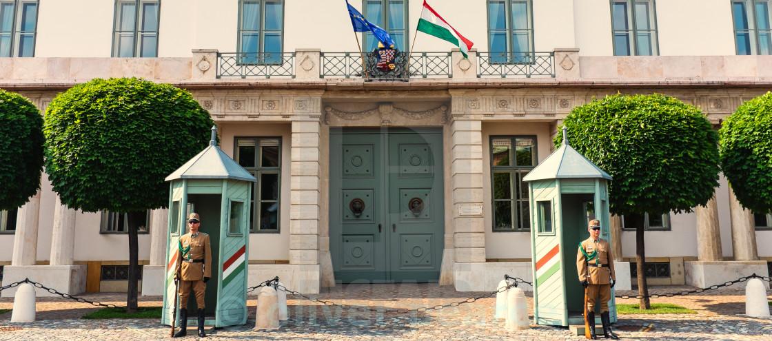 """""""Hungarian Guards"""" stock image"""