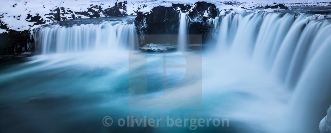 """Godafoss - waterfall -Iceland"" stock image"
