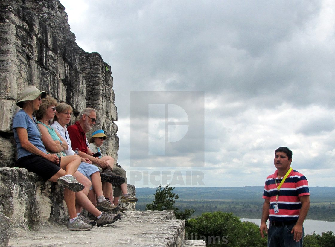 """Cuban tourist guide."" stock image"