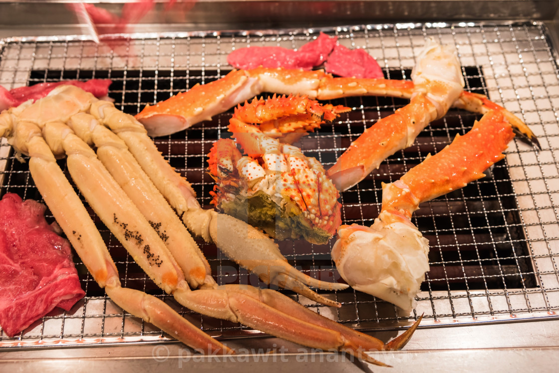Grilled Seafood Platter King Crab License Download Or Print For 12 40 Photos Picfair