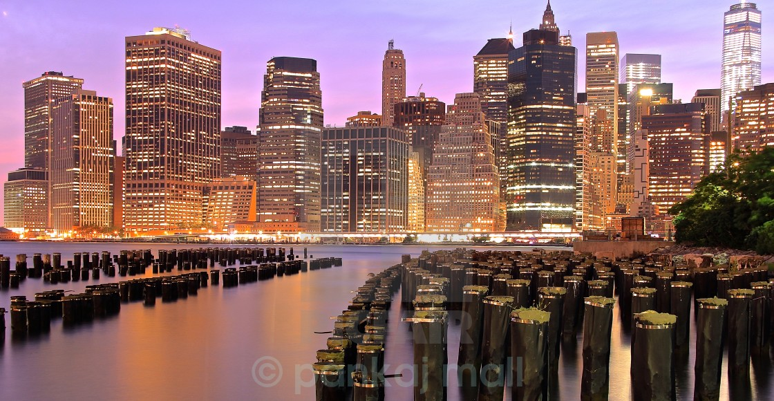 """manhattan from brooklyn"" stock image"