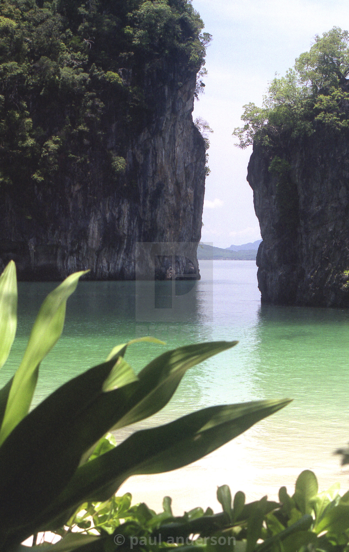 """A hidden bay in Thailand"" stock image"