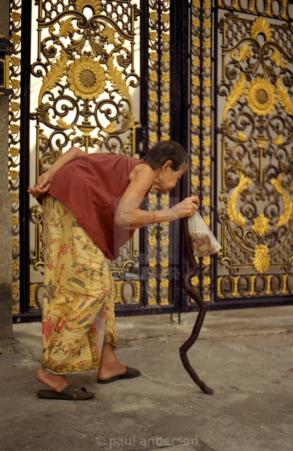 """""""An old lady in Bangkok, Thailand"""" stock image"""