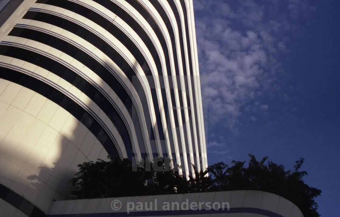 """A modern building in Bangkok, Thailand."" stock image"