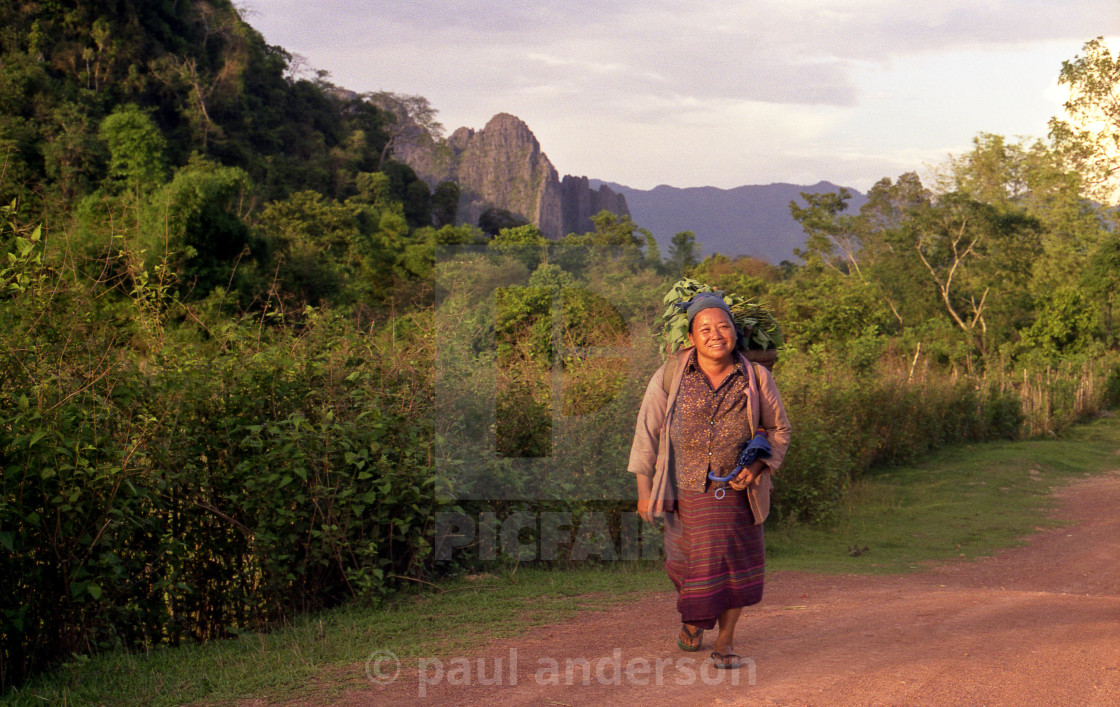 """A woman in Laos"" stock image"