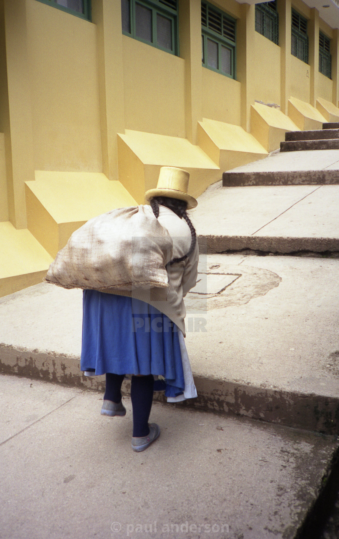 """A woman going to market in Peru"" stock image"