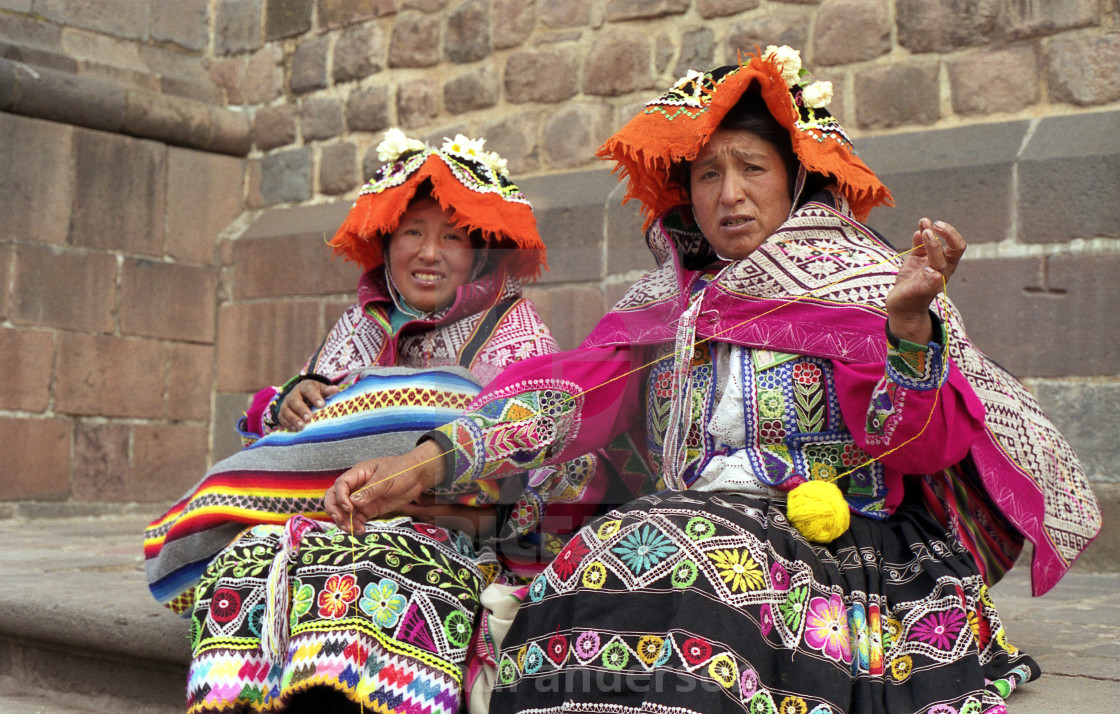 """Local women in Cusco Peru"" stock image"