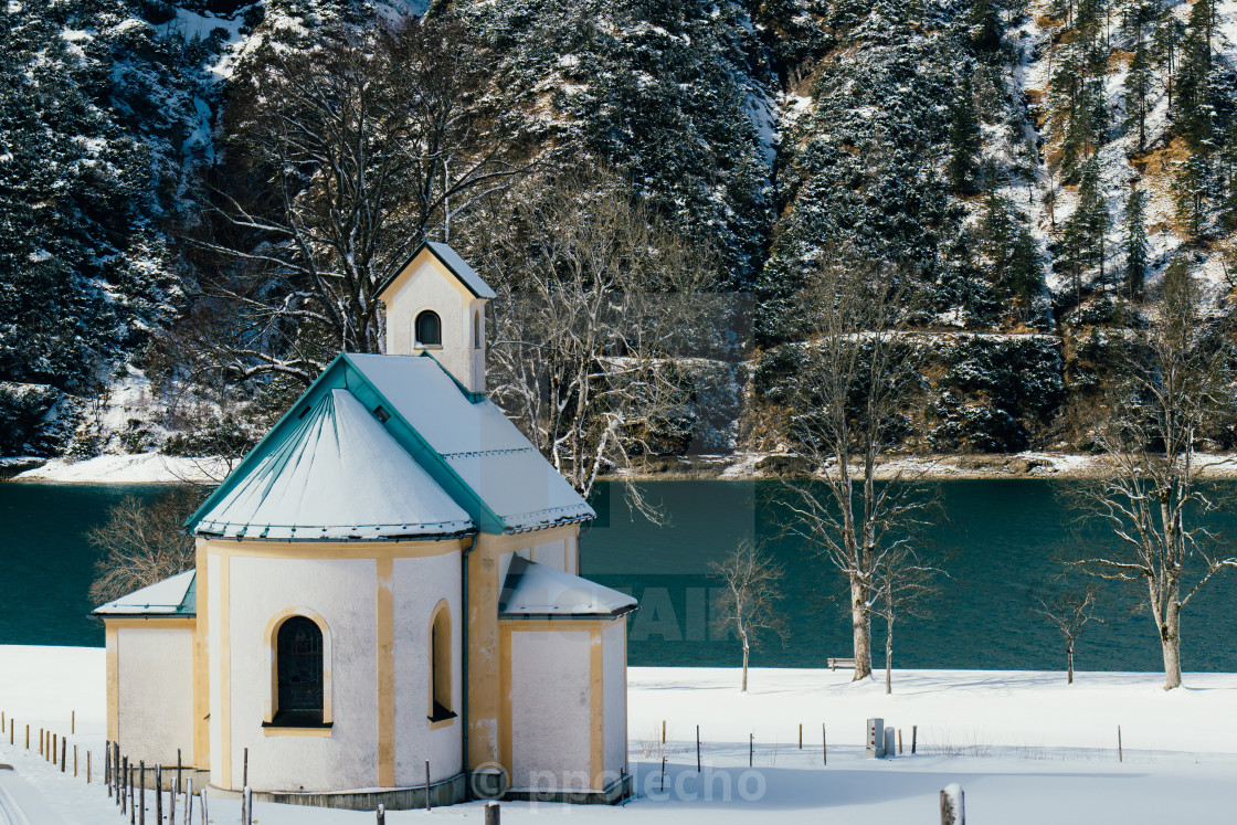 """Achensee Church"" stock image"
