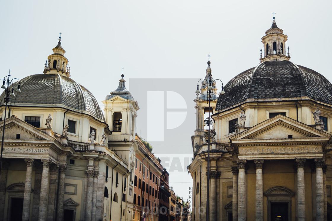 """""""Piazza Del Popolo"""" stock image"""