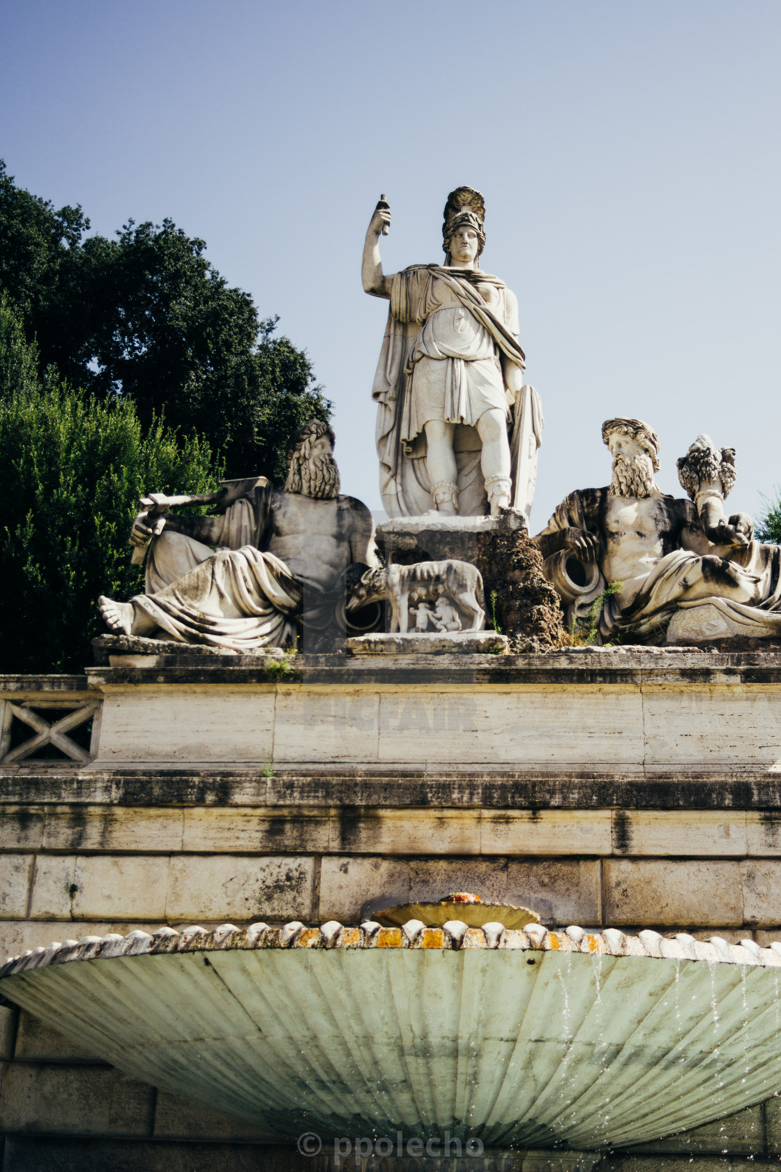 """Piazza Del Popolo Fountain"" stock image"
