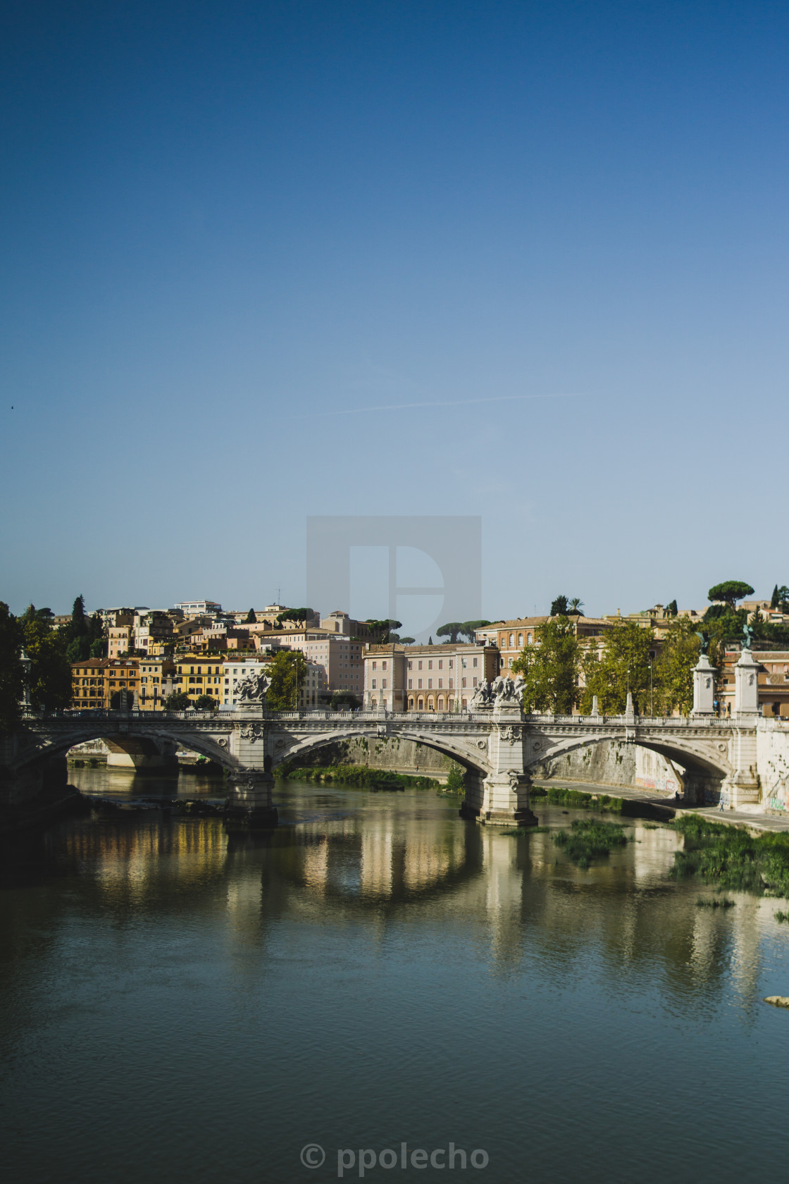 """""""Rome and the Tiber"""" stock image"""