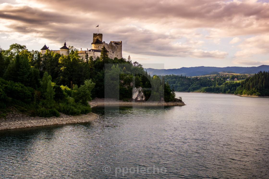 """Dunajec Castle in Niedzica"" stock image"