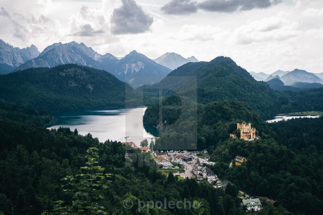 """Alpsee Mountain Landscape"" stock image"