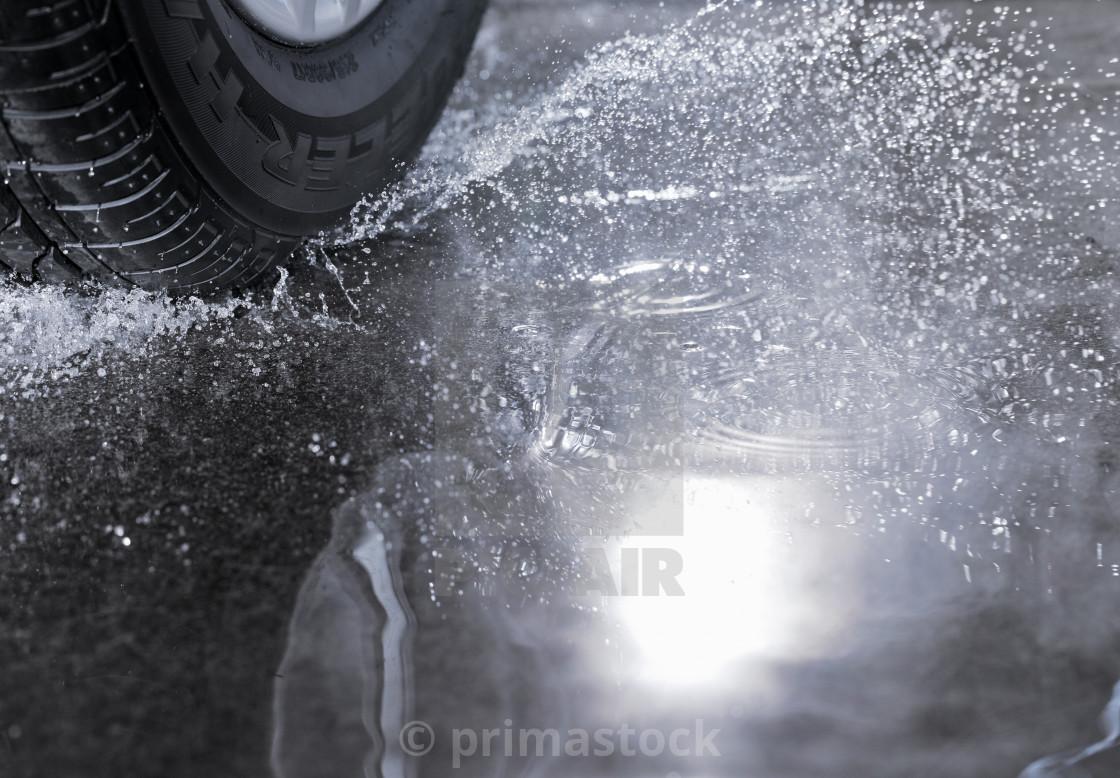 """Rain Tyre"" stock image"