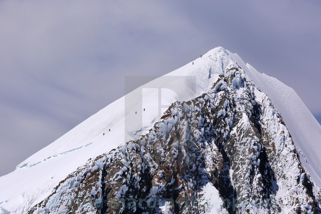 """mt cook climbers"" stock image"