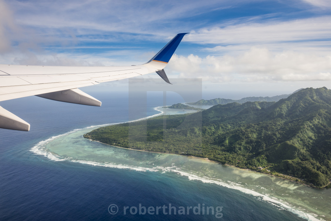 """Aerial of the state of Kosrae. Federated States of Micronesia"" stock image"