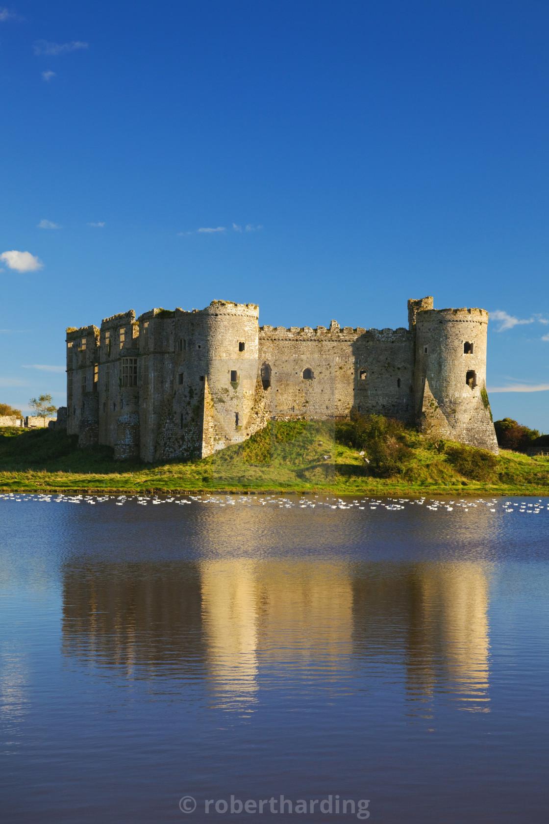 """""""Carew Castle, Pembrokeshire, West Wales, UK"""" stock image"""