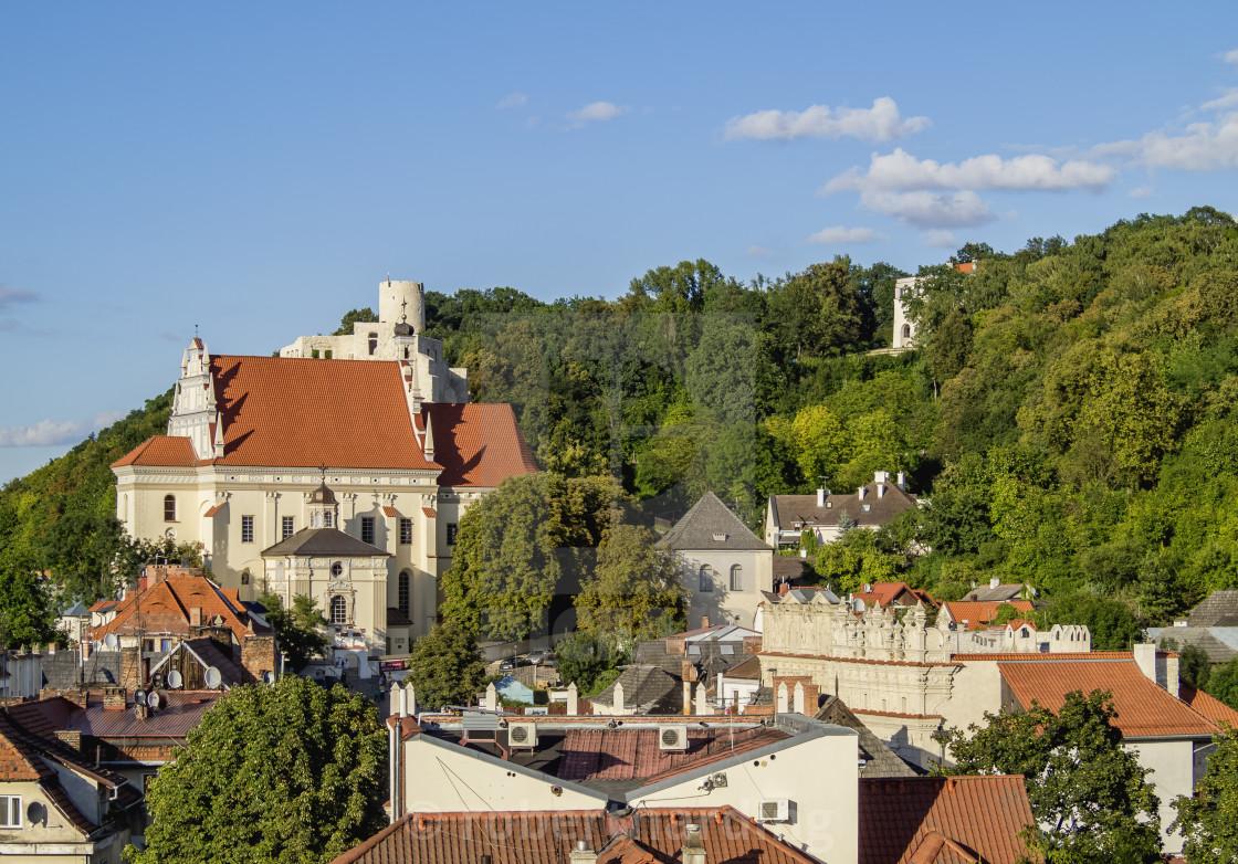 """""""Poland, Lublin Voivodeship, Kazimierz Dolny, Townscape"""" stock image"""