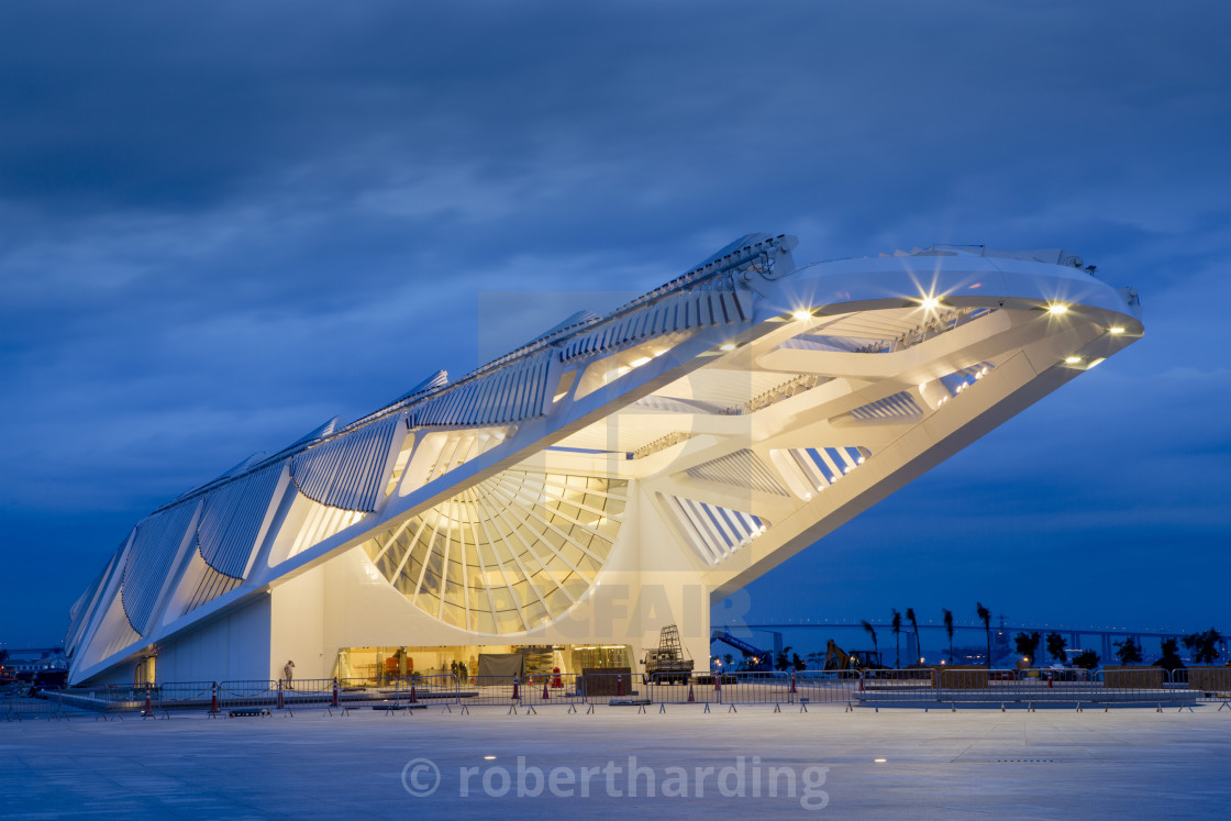 """The Museu do Amanha (Museum of Tomorrow) by Santiago Calatrava opened..."" stock image"