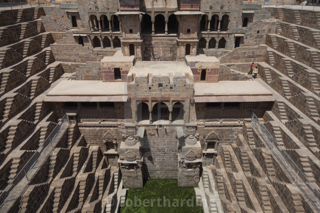 """Chand Baori Step well at Abhaneri"" stock image"