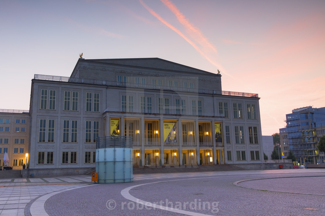 Opera House In Augustusplatz At Dawn Leipzig Saxony Germany License Download Or Print For 79 84 Photos Picfair