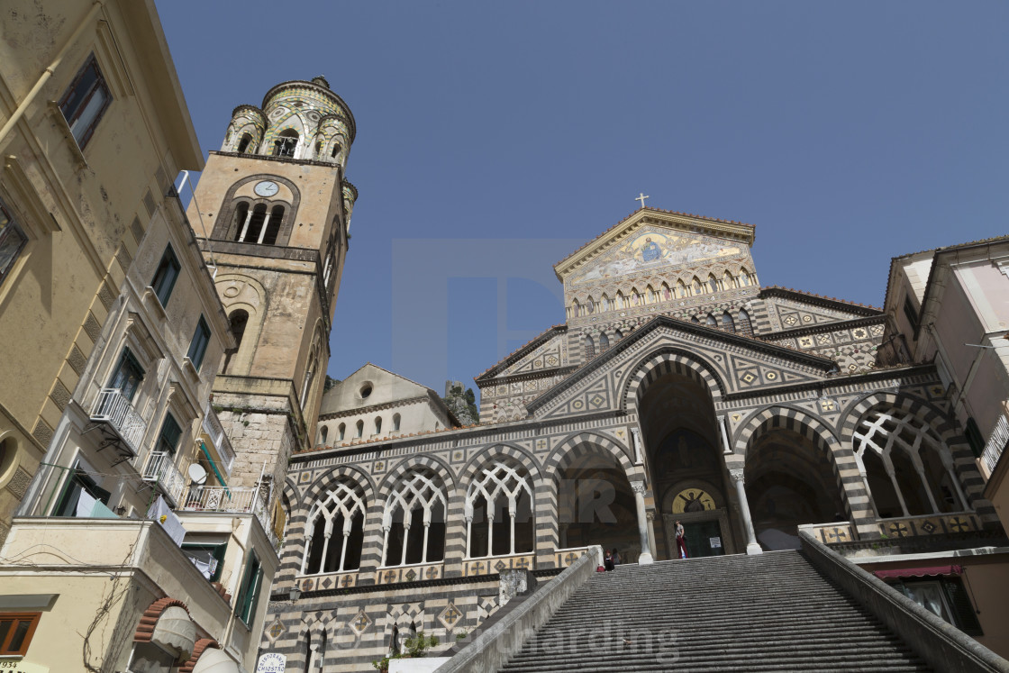 """""""Steps up to the Duomo Cattedrale Sant' Andrea in Amalfi, Amalfi Coast..."""" stock image"""
