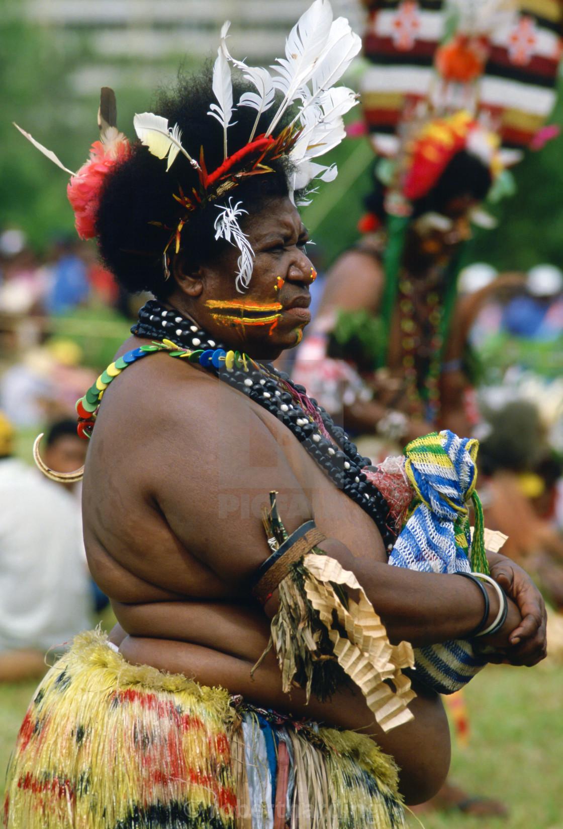 """Traditional dress, Papua New Guinea"" stock image"