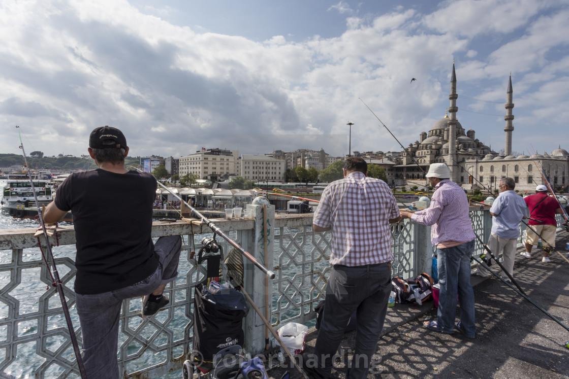 Image result for galata bridge fishermen