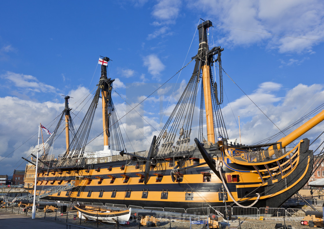HMS Victory in the Portsmouth Historic Dockyard, Portsmouth ...