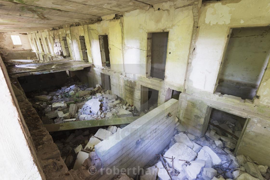"""The Wolfs Lair, Hitler's World War II secret bunkers, Masuria, Poland, Europe"" stock image"
