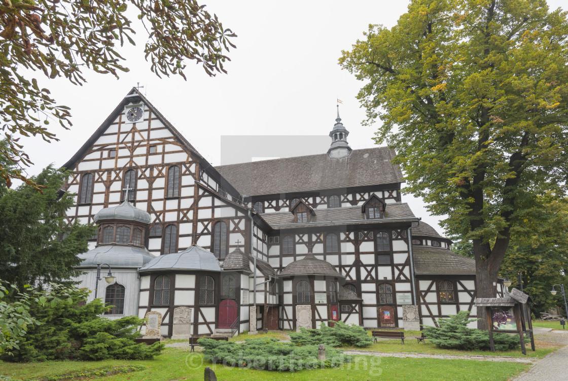 """Church of Peace, Swidnica, UNESCO World Heritage Site, Silesia, Poland, Europe"" stock image"