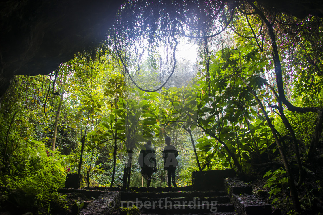 """Cave system in the Virunga National Park, Rwanda, Africa"" stock image"