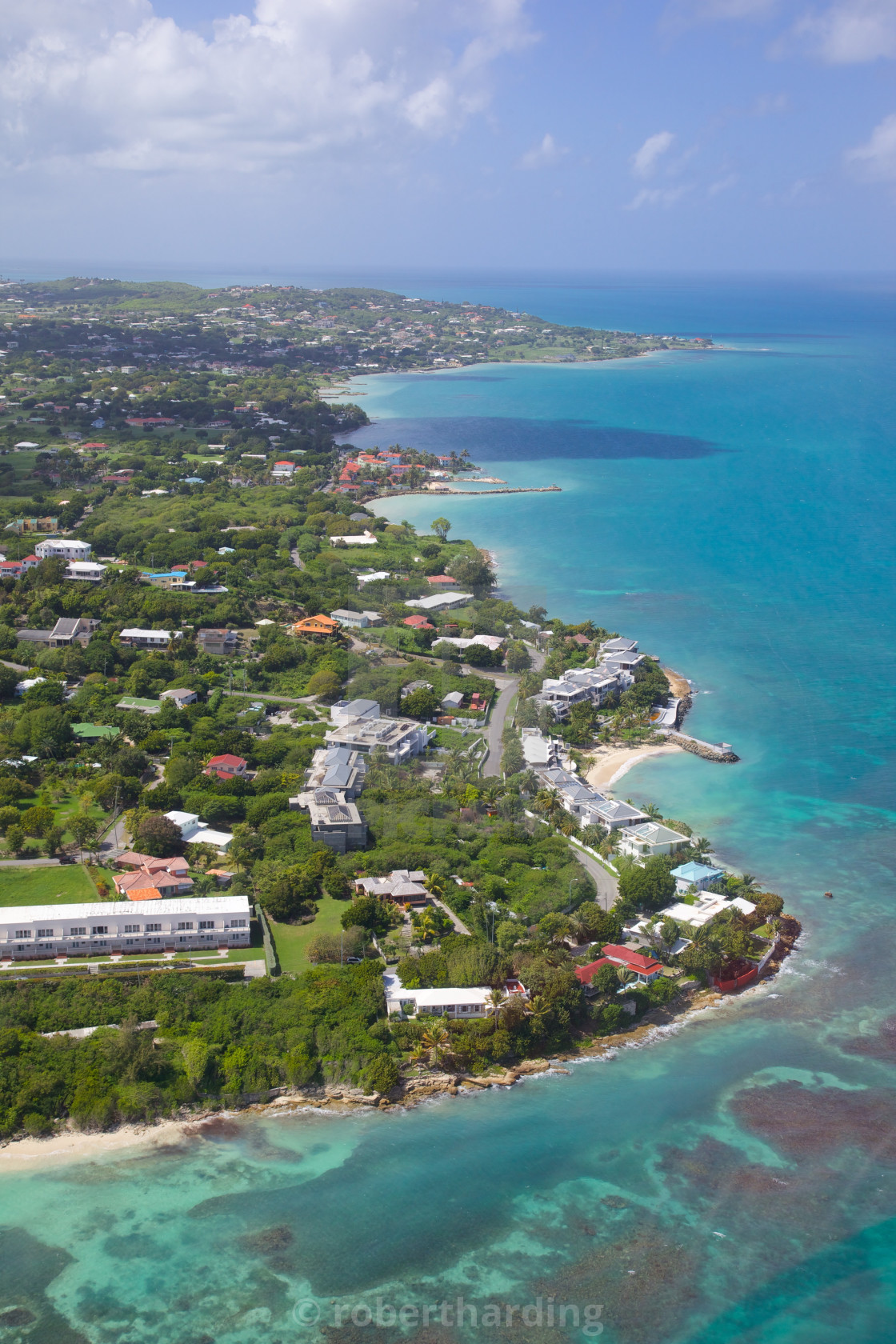 View of Ely's Bay, Hodges Bay and Boons Bay, Antigua