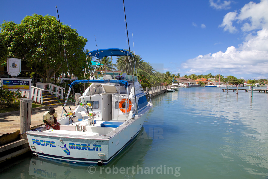 """Harbour, Jolly Harbour, St. Mary, Antigua, Leeward Islands, West Indies,..."" stock image"