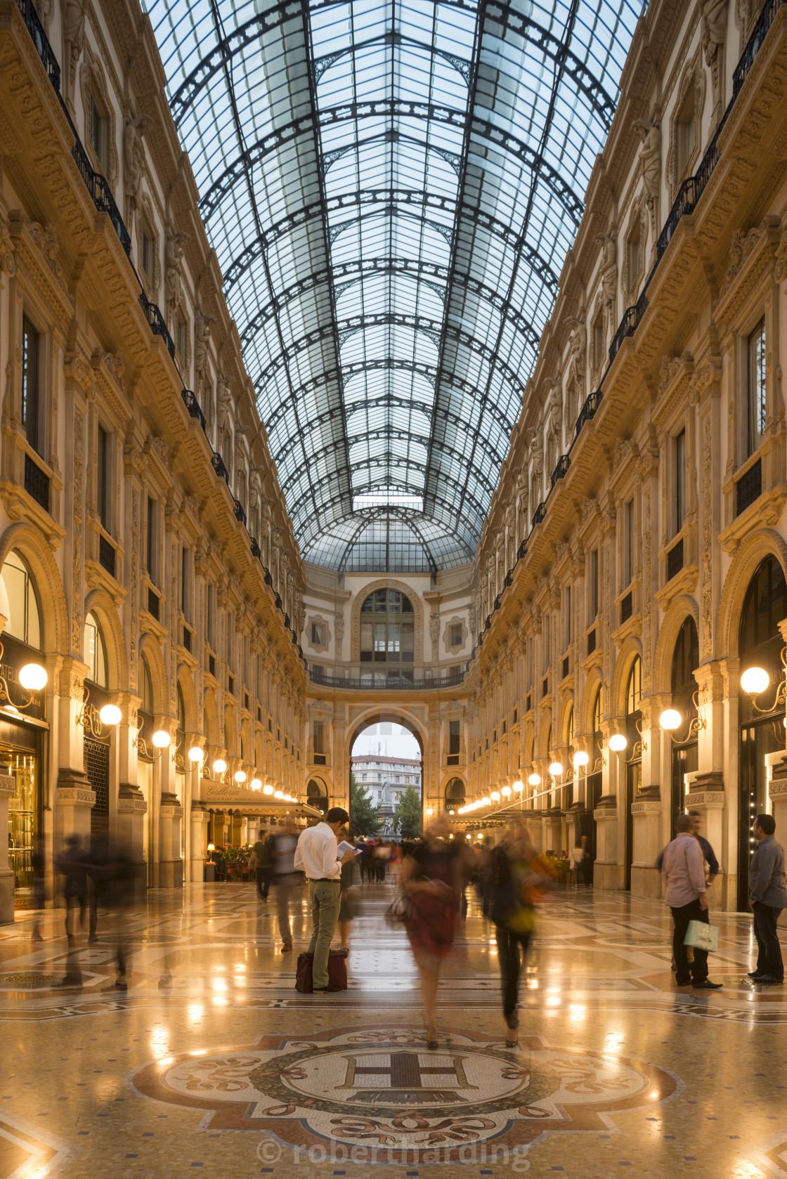 Interior of Galleria Vittorio Emanuele Shopping Mall ...