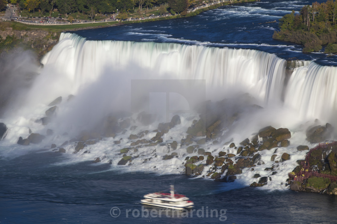 View Of The American And Bridal Veil Falls Niagara Falls Niagara